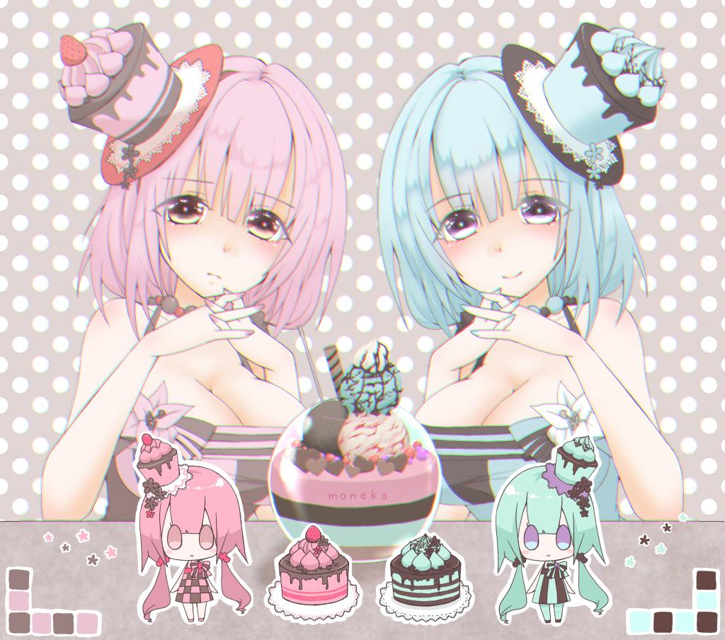 ケーキ擬人化のお姫様のイラスト